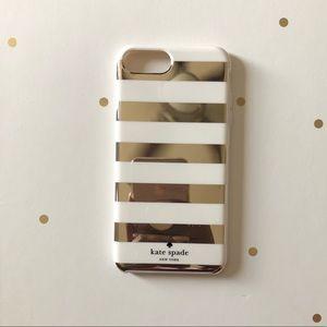 Kate Spade iPhone 8 Plus Cream & Gold Case